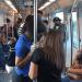 Los usuarios del Metro ayer estaban a mayor distancia
